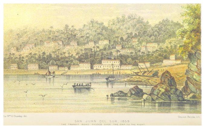 Drawing of San Juan del Sur, Nicaragua in 1859