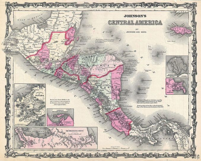 Johnson's Map of Central America 1862 by Alvin Jewett Johnson [Public domain]