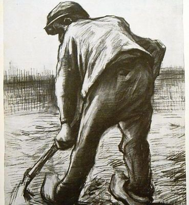 Digging Peasant by Vincent Van Gogh, 1885