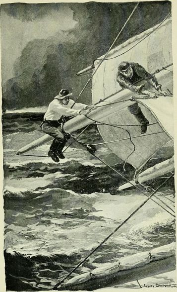 Illustration from DOG-WATCHES AT SEA by Stanton Henry King [Public domain] lumber schooners