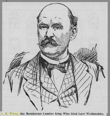 Portrait of Lorenzo White from THE SAN FRANCISCO CALL, July 4, 1896.
