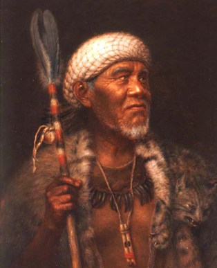 Image of painting Ma-tu, Pomo Medicine Man by Grace Hudson