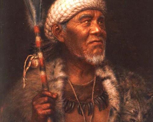 Image of painting Ma-tu, Pomo Medicine Man by Grace Hudson