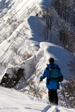 Back country touring with Arnault Teissier and Stefan Wellauer