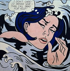Drowning Girl 1963 - R Lichenstein