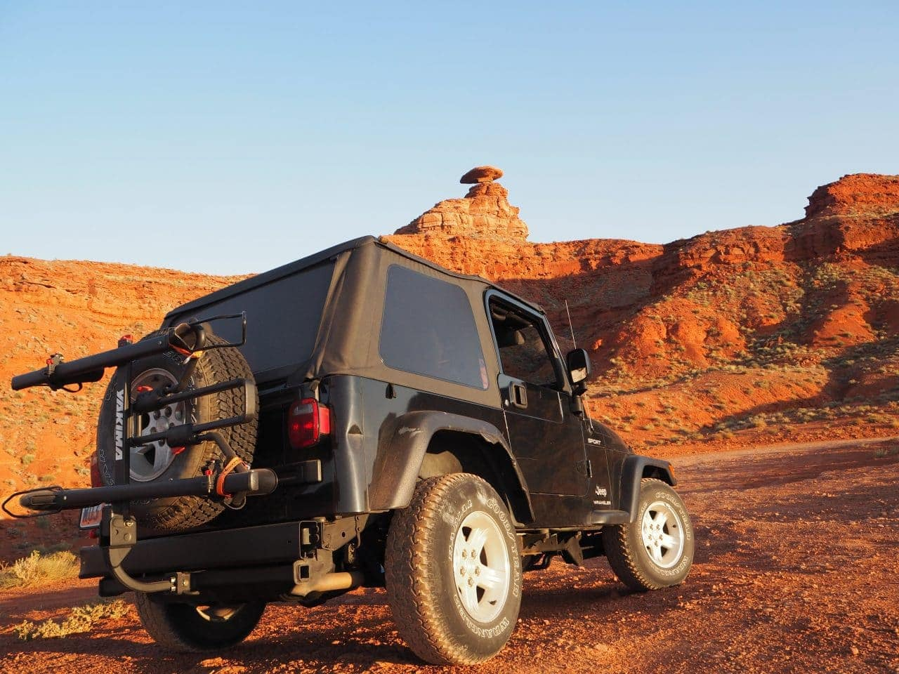 jeep and Mexican Hat Rock