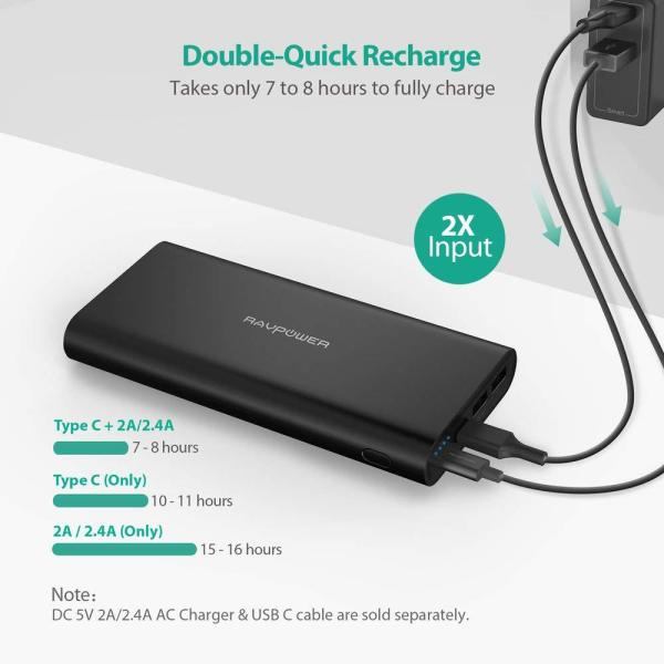 RAVPower 26800mAh External Battery Pack