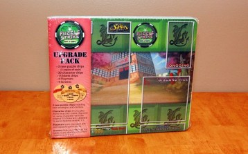 """David Sirlin's """"Puzzle Strike"""" got this upgrade pack which improved game balance.  I haven't heard of many other boardgame people doing similar things yet, unfortunately."""