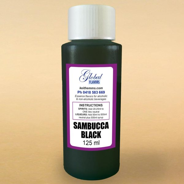 Black Sambucca, spirit essences, spirit essence, home distilling, liqueur essences, liquid smoke, oak chips