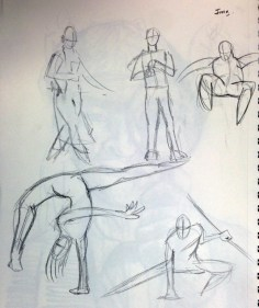 Gestures from imagination.
