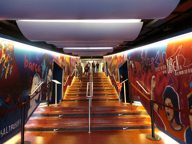 A photograph of the entrance to the Camp Nou Experience at FC Barcelona taken by Andrew Booth.