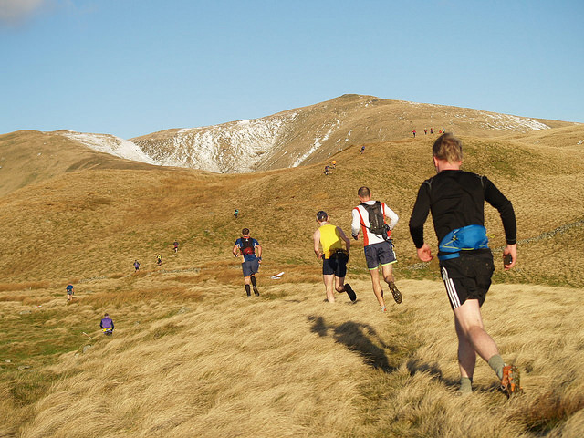 A photograph of a hill race in Scotland on Kirk Craigs
