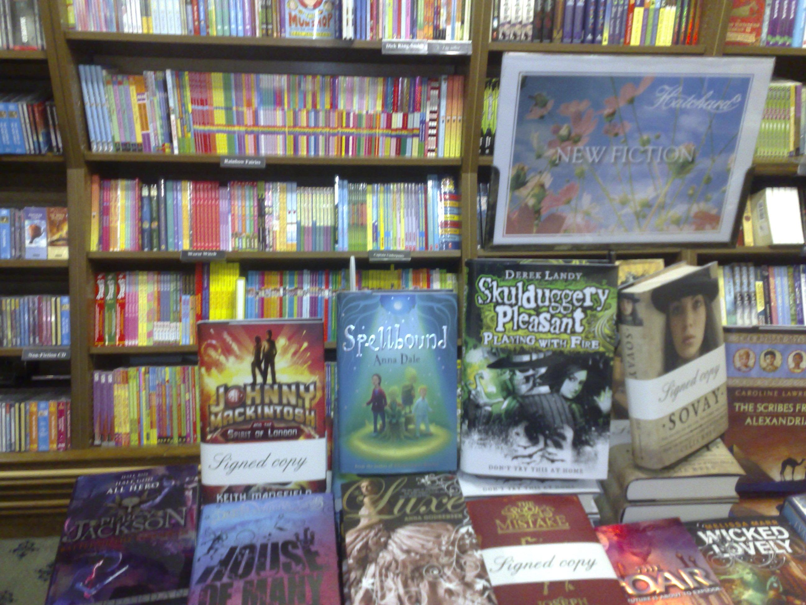Hatchards new fiction display