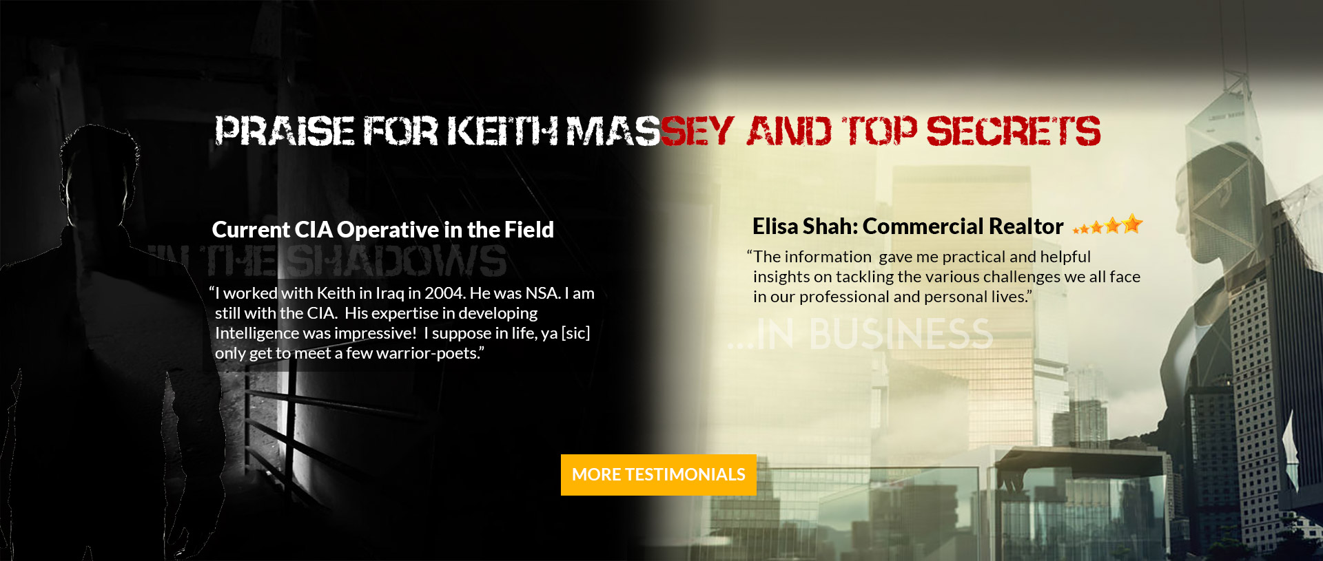 What are people saying about keith Massey and Top Secrets