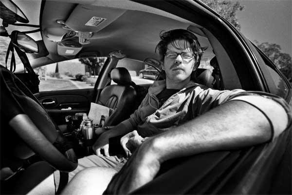 Timothy Briner in his car