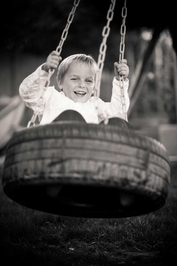 tire swinging fun