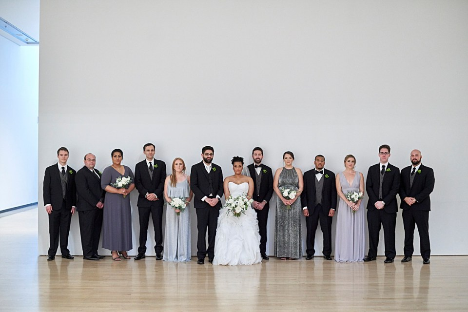 wedding party at the phoenix art museum