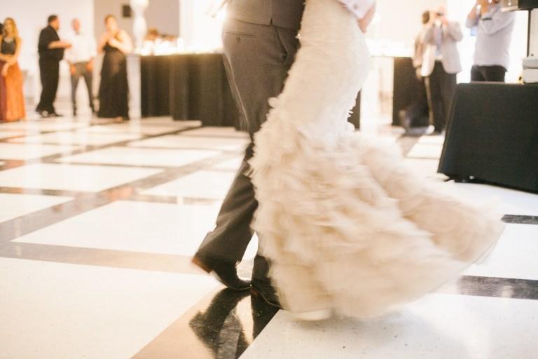 first dance, wedding dress