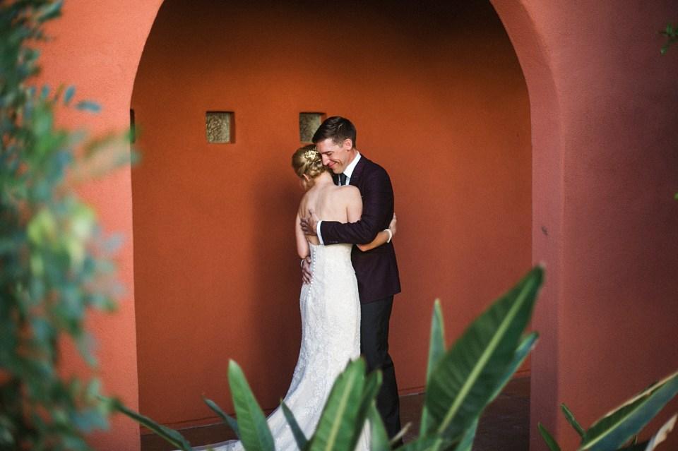 first look omni Montelucia wedding
