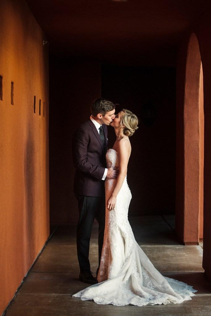 first look at omni Montelucia wedding