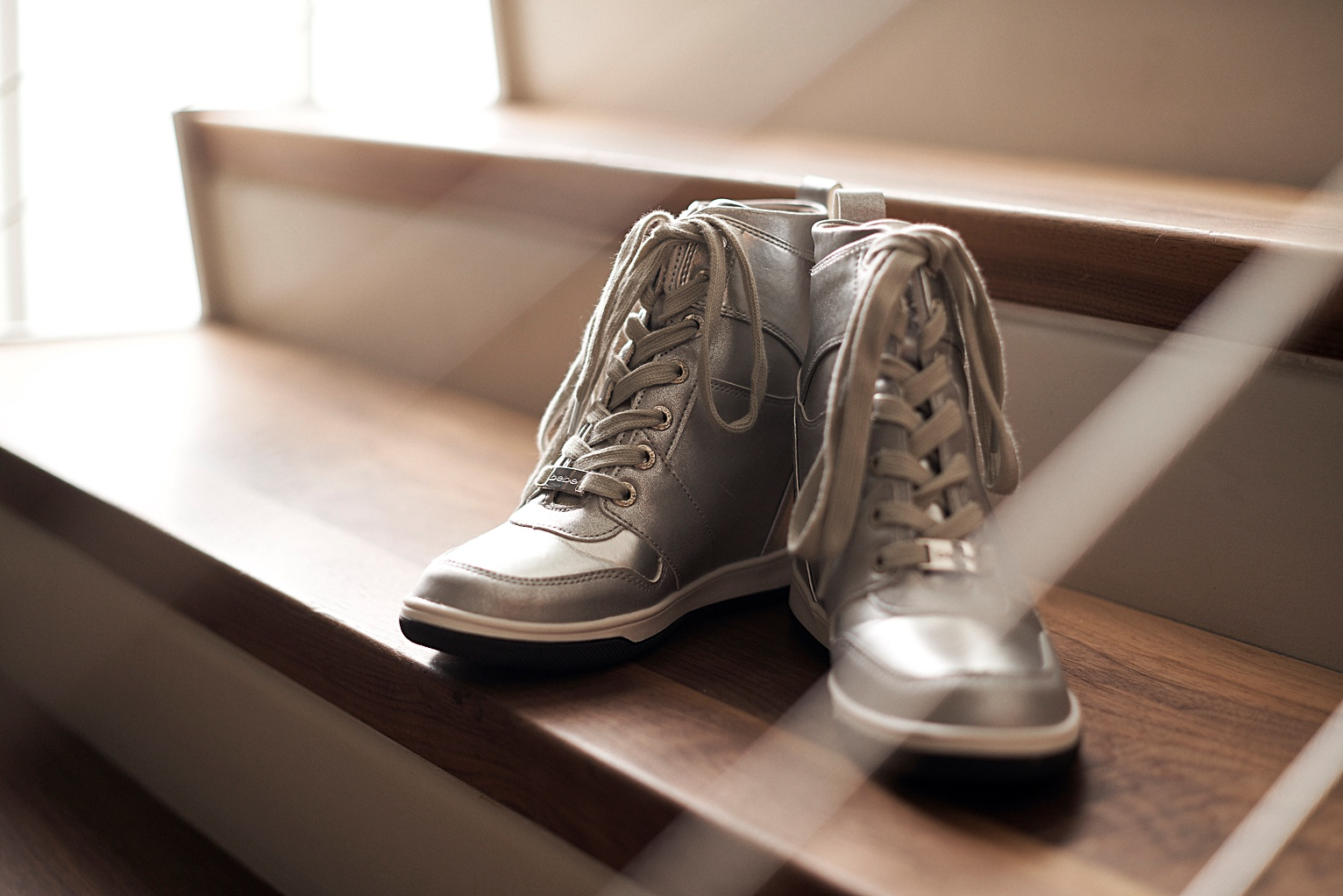 silver wedding bride sneakers
