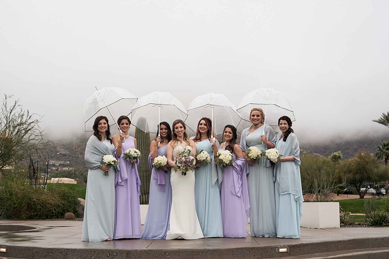 bridesmaids wedding party photos camelback mountain