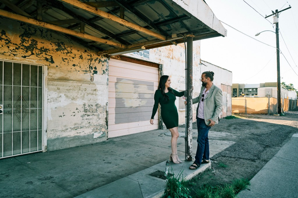 tempe street engagement photos