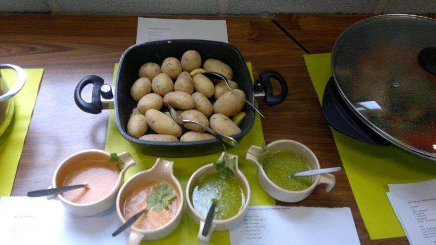 potatoes with mojo sauce