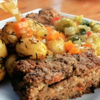 Vegan, Gluten-free Nut Roast and Stuffing