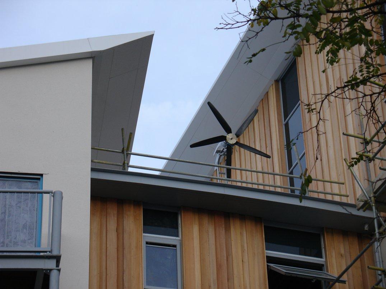 wind turbines on apartment