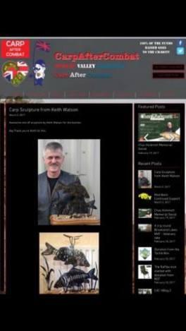 Article of carp sculpture donation