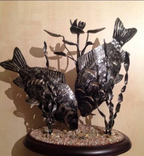 Carp sculpture