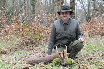 Keith with Gold Medal Muntjac