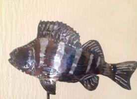 Perch fish sculpture cropped