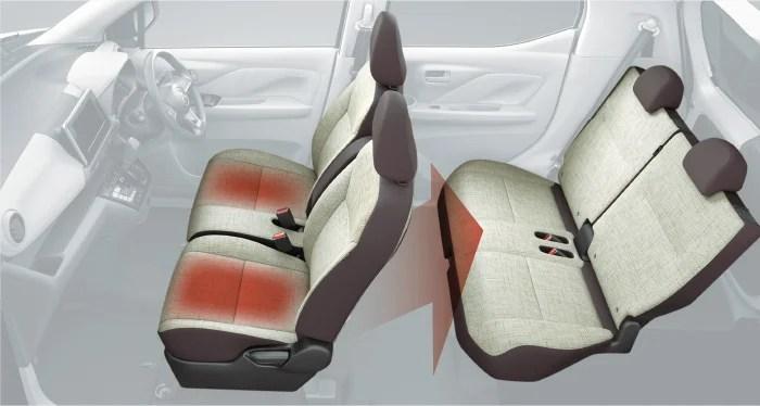 新型ek-ワゴン内装リヤヒートダクター