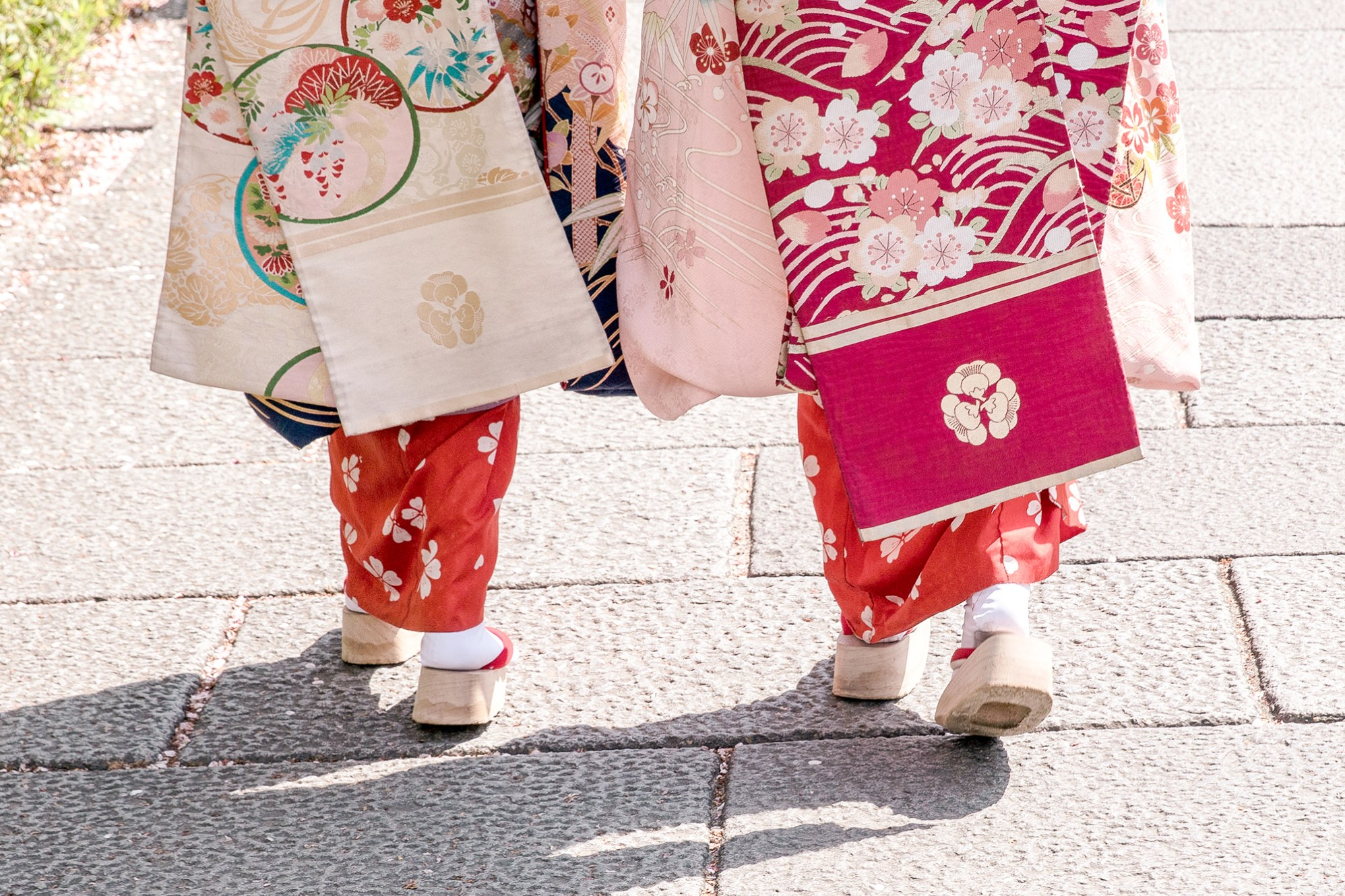 Ladies in traditional Kimono in Gion, Kyoto