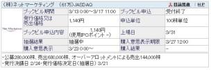 IPO抽選結果 ネットマーケティング(6175)