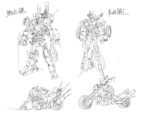 Junkions character design lines