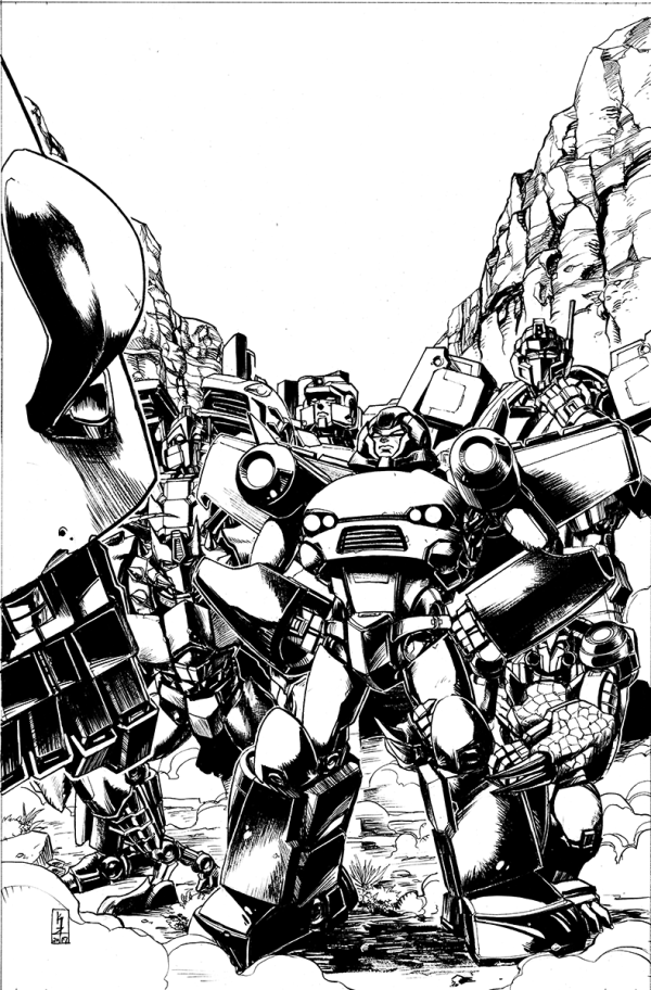 Optimus Prime #11 Cover Lineart