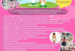 Teacher Training Yoga Kids Indonesia di Surabaya Bulan April 2019
