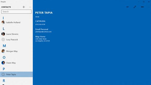 Contatti Microsoft si aggiorna su Windows 10 aggiungendo la scheda Cronologia