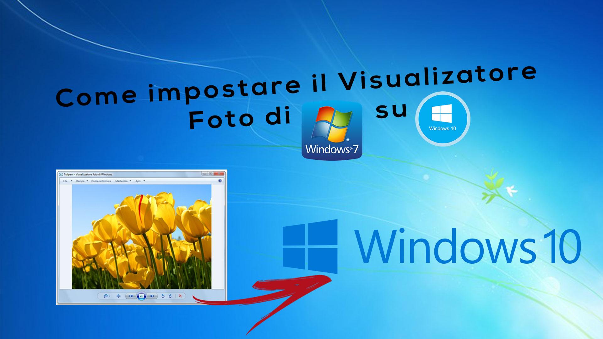 Come impostare il vecchio Visualizzatore foto di Windows 7 su Windows 10