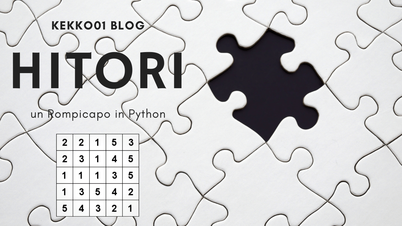 Hitori, un rompicapo in Python [ITA + Download]