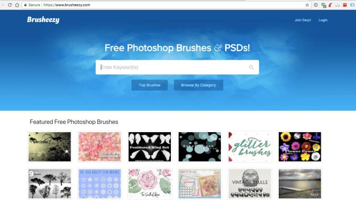 screen capture web site brusheezy