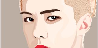 vektor wajah kelas desain