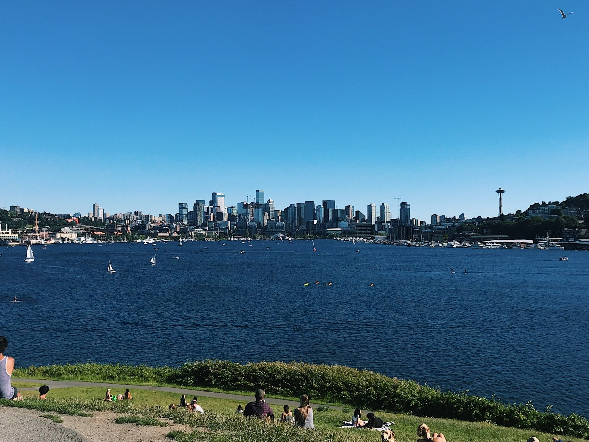 Seattle skyline at Gas Works Park