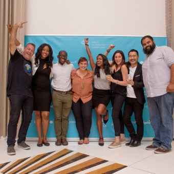 Organizing team at MEST Africa Summit, 2017 celebrating after