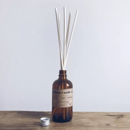 Pear scented reed diffuser with Kelham Candle Co hand made in Sheffield label