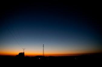 Į Golano aukštumas ateina naktis