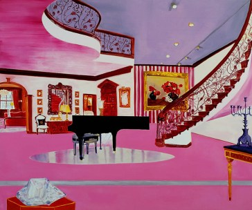 Dexter Dalwood, 'The liberace museum', 1998, oil on canvas. Image courtesy kaleidoscope-press.com